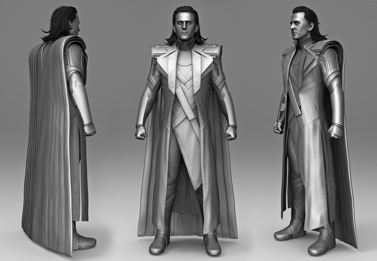 3d model character modelling loki dress by mario da rocha
