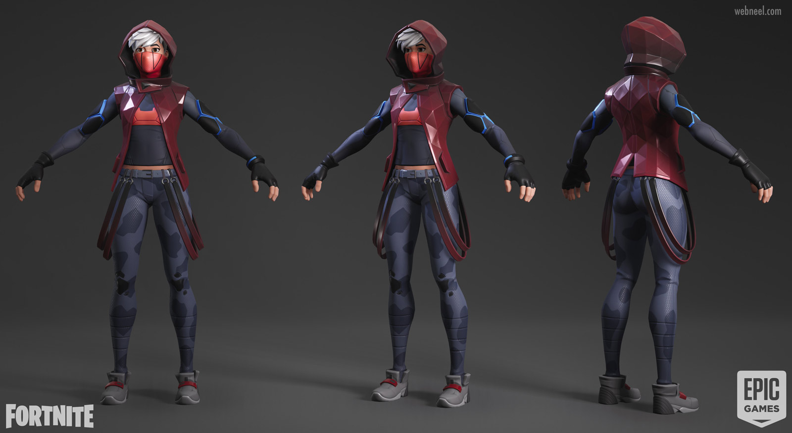 3d game model army girl fighter