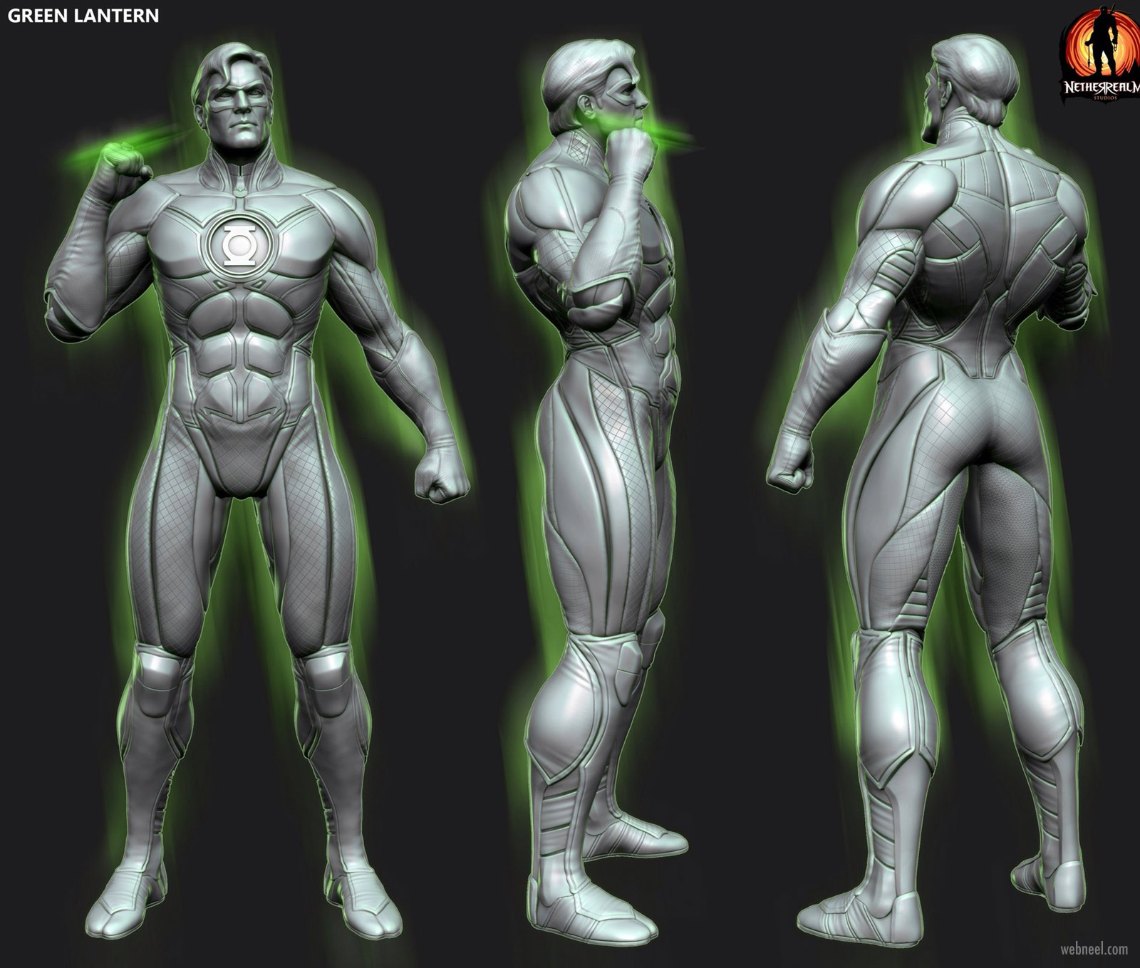 3d game model monster super man