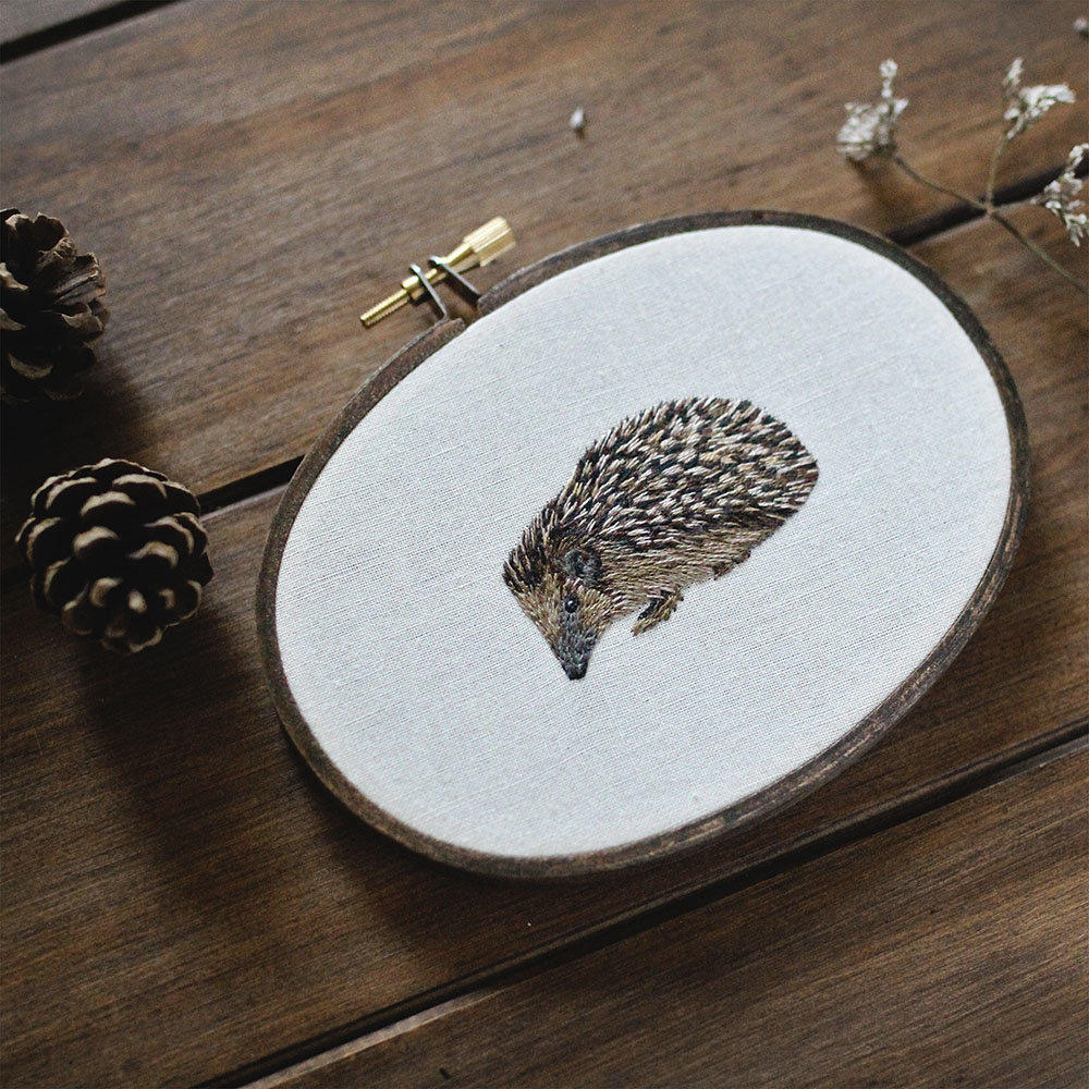 embroidery art porcupine