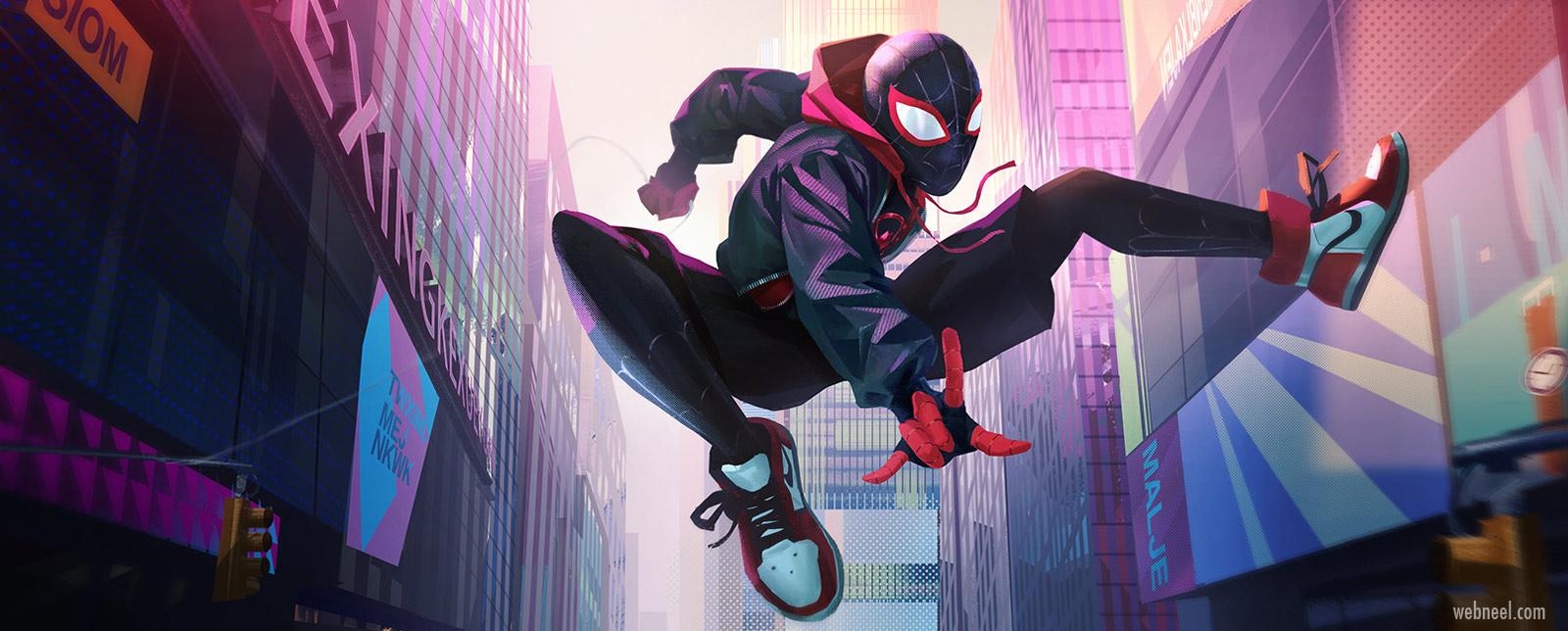 spiderman illustration vector 2d