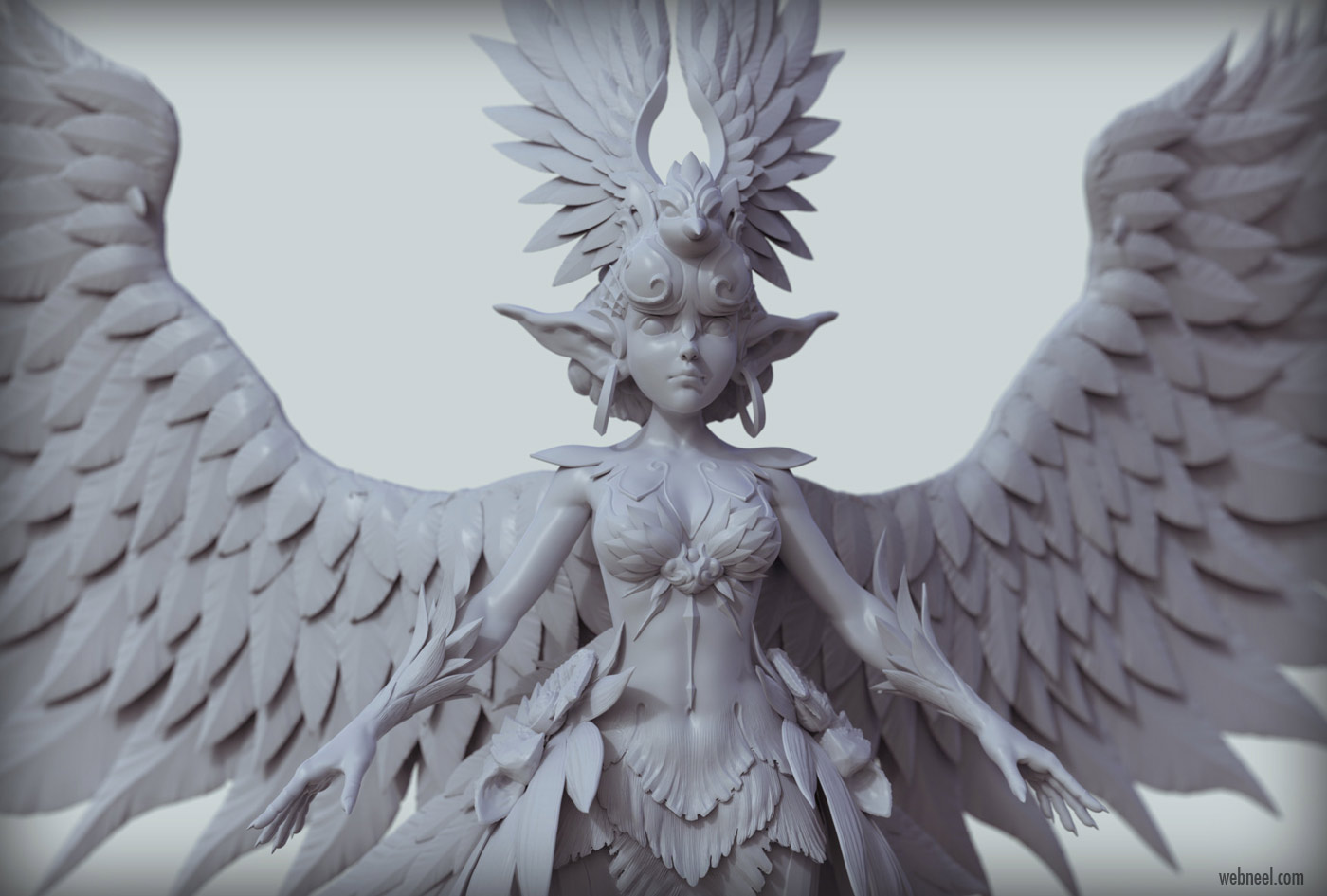 3d model character design fantasy angel