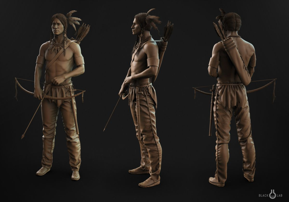 3d model character modelling indian