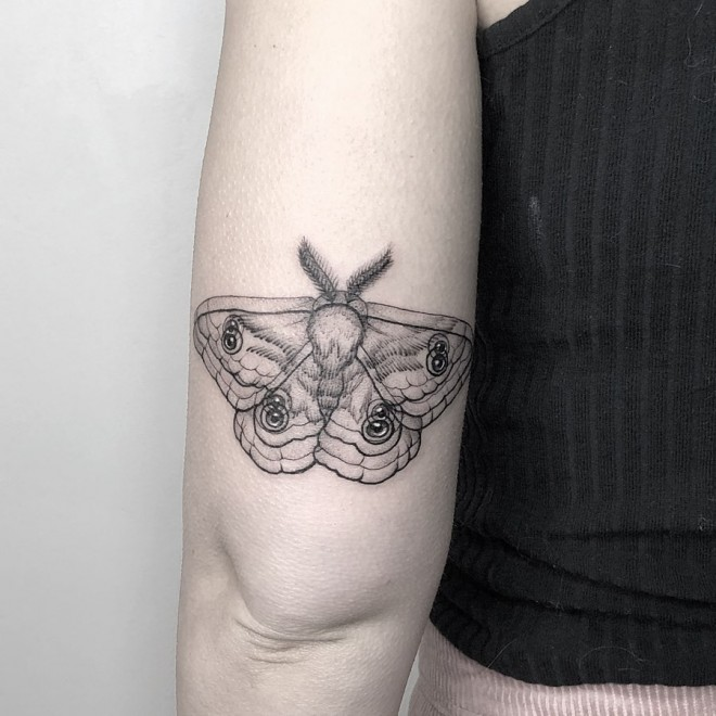 optical illusion tattoo butterfly