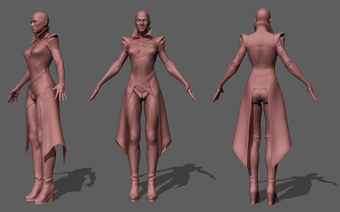 3d model character modelling nova