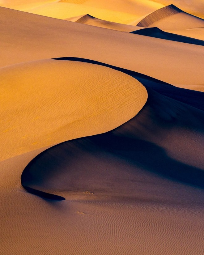 shine light photo desert