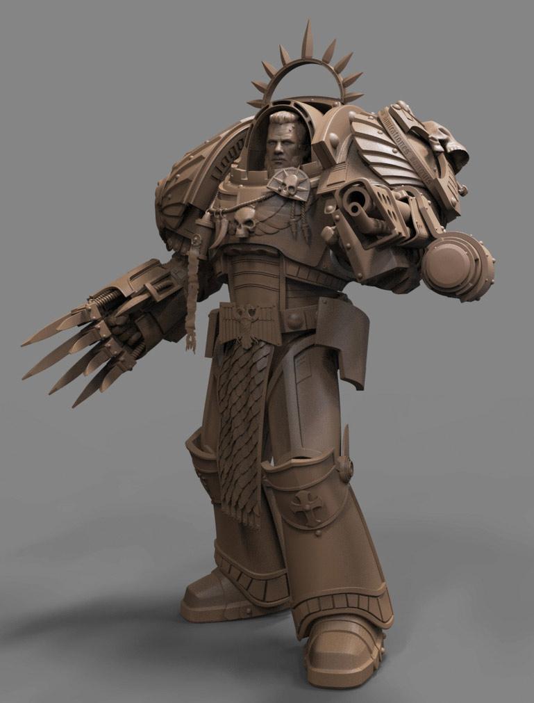 3d model character modelling war hammer