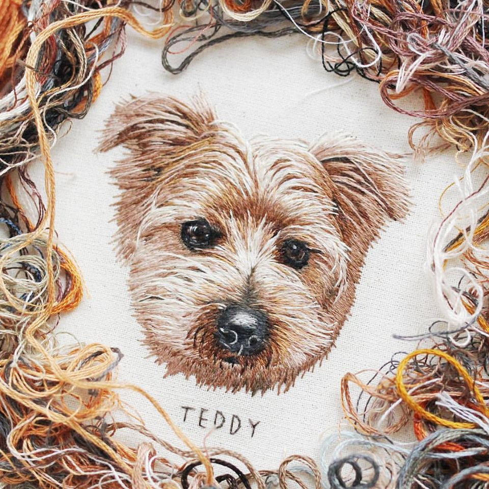 embroidery art teddy