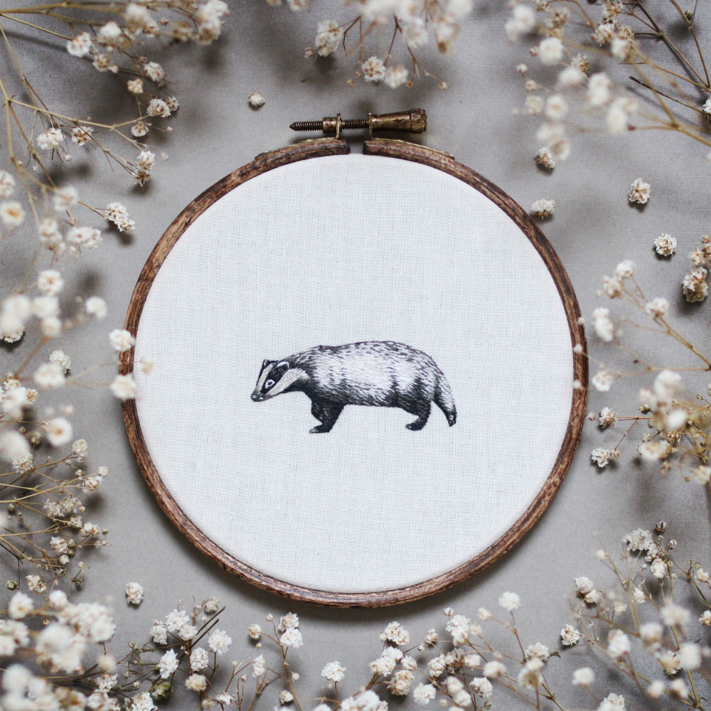 embroidery art badger