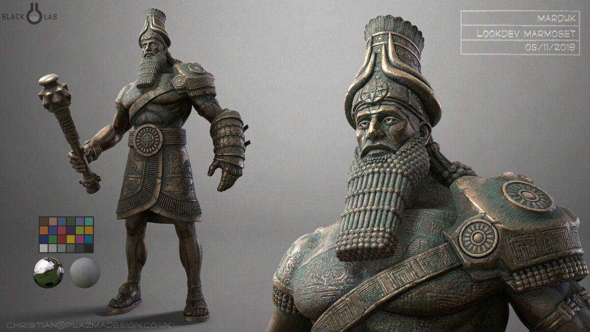 3d model character modelling marduk half