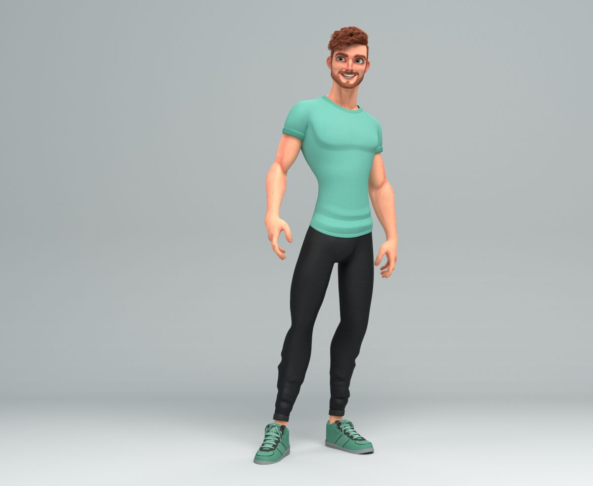 3d model character design man