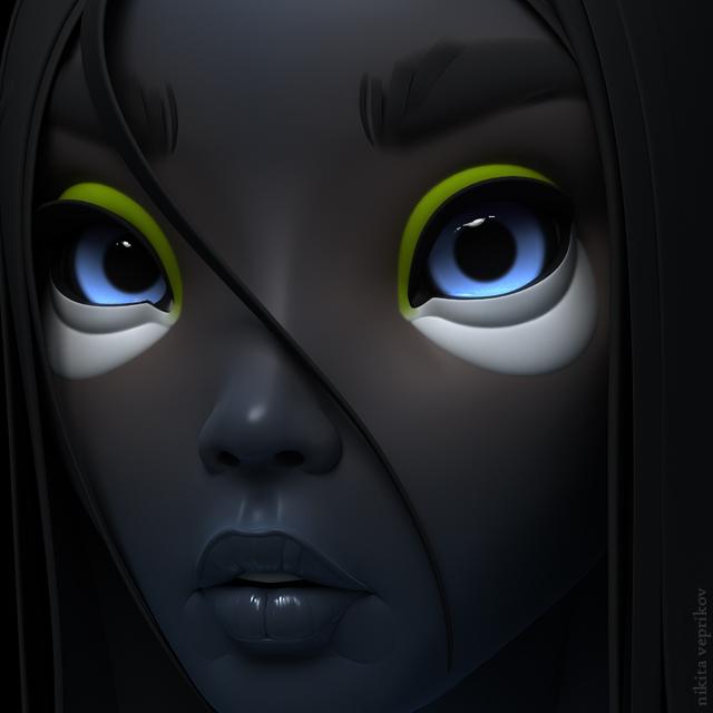 3d model character robot girl