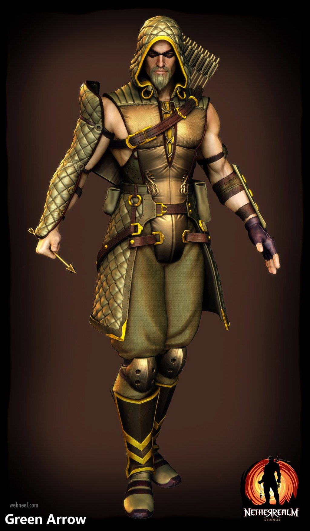 3d model character warrior