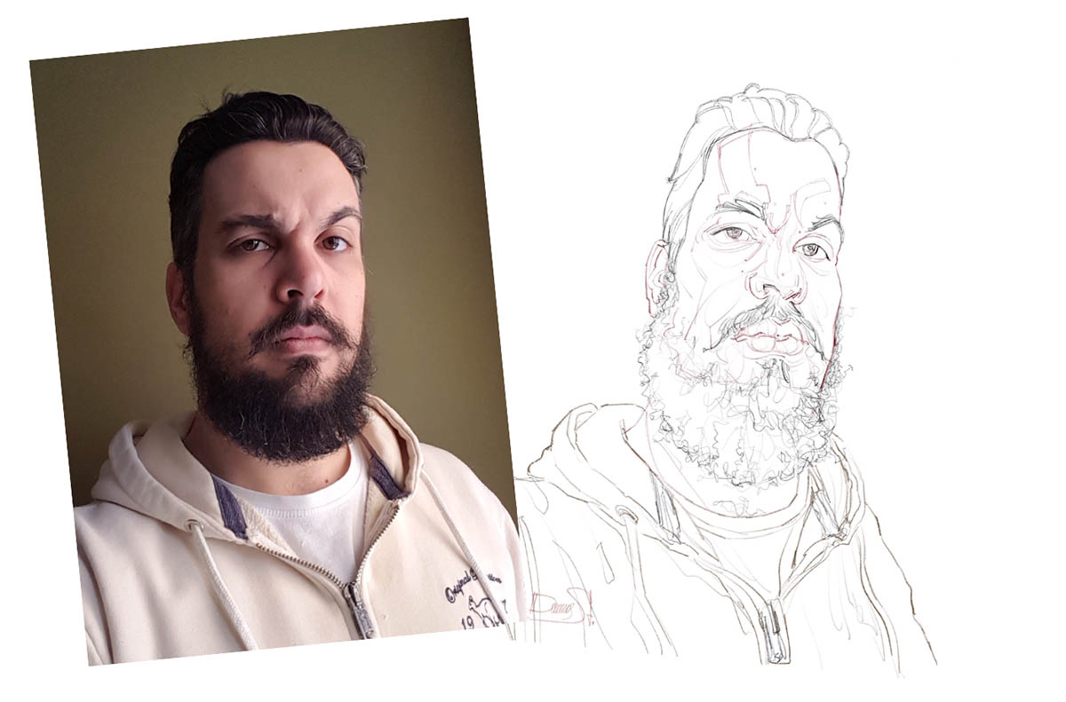 caricature illustrations portrait sketch by stavros damos