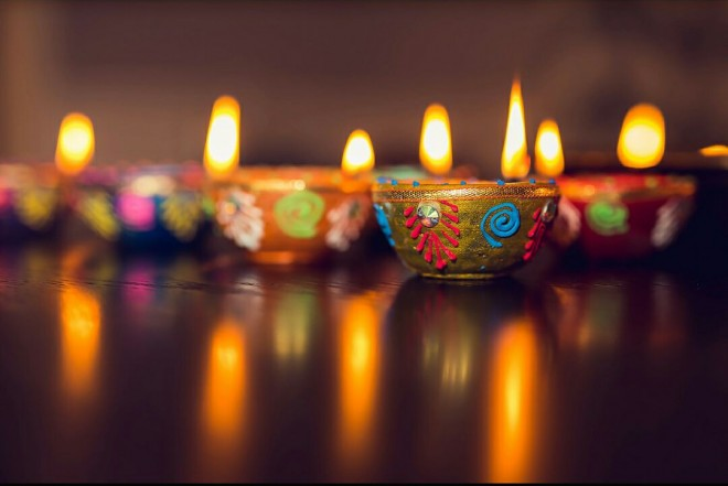 shine light photo diyas(clay lamps)
