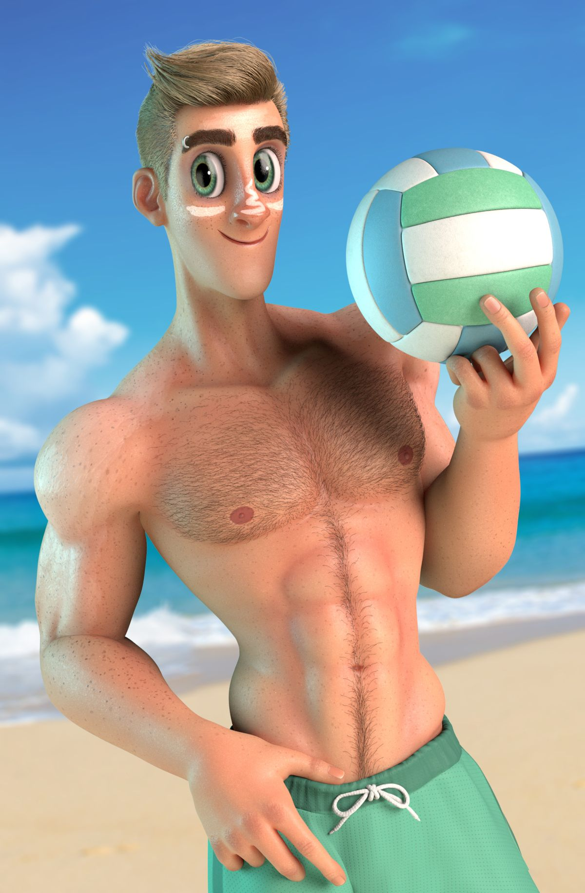 3d model character design randy beach by alfonso petersen