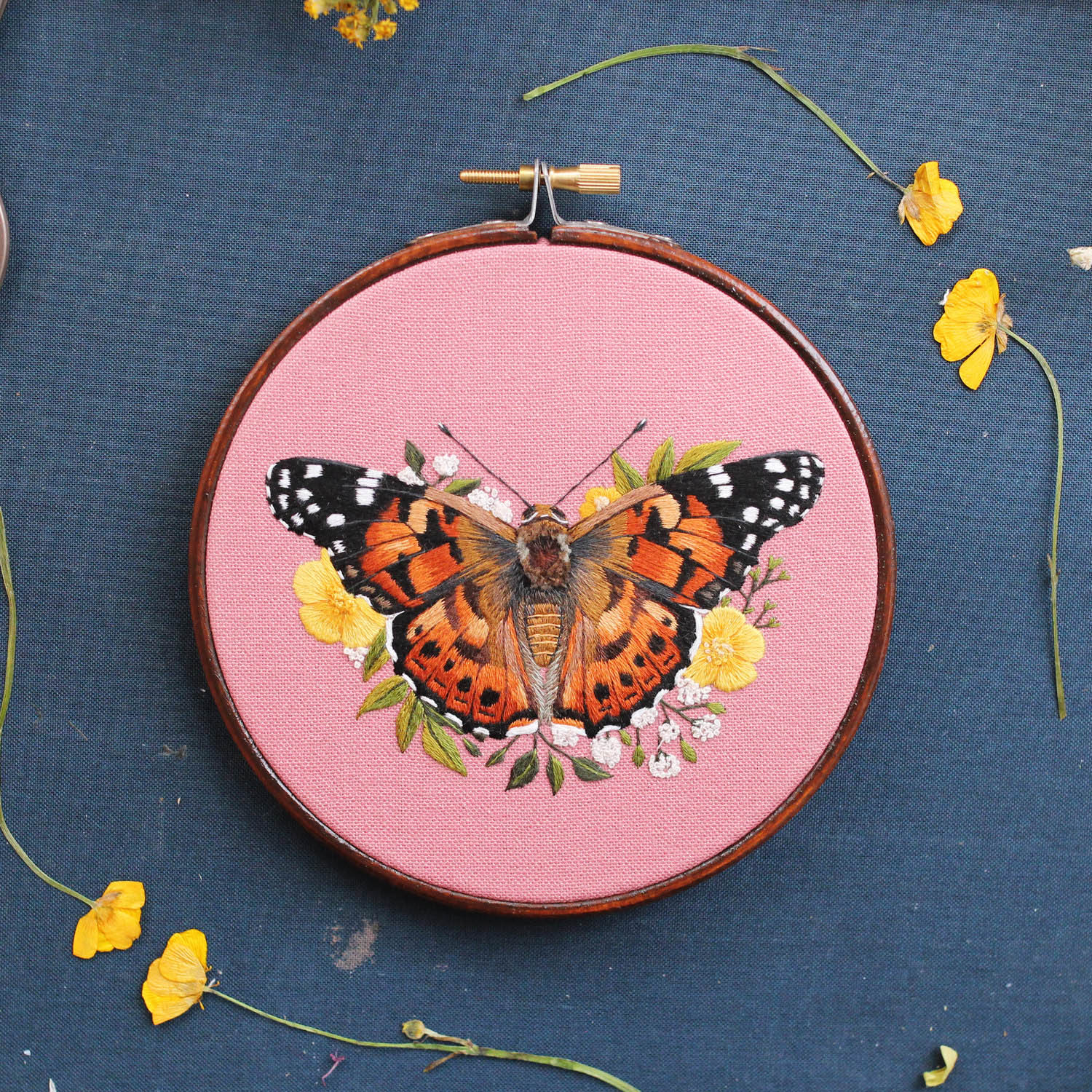 embroidery art butterfly