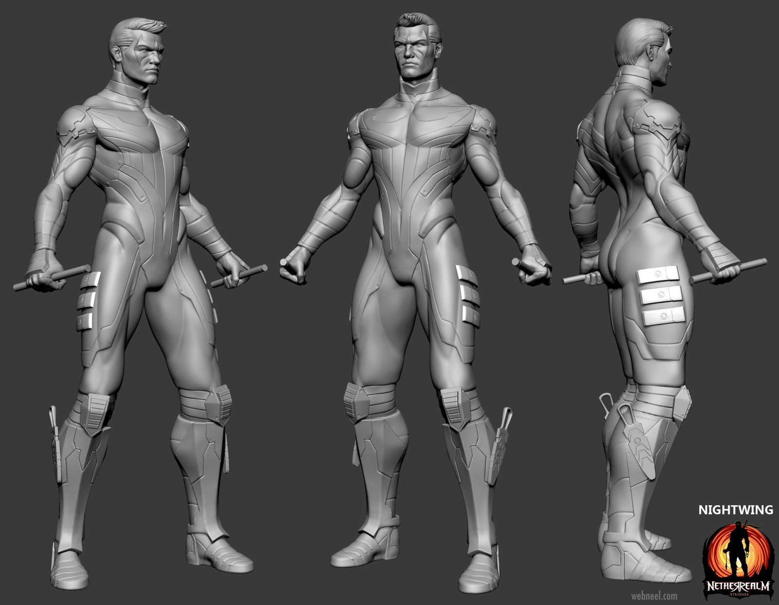 3d game model fighter