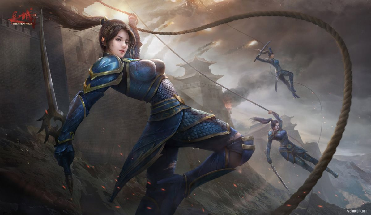 3d model character design fantasy warrior