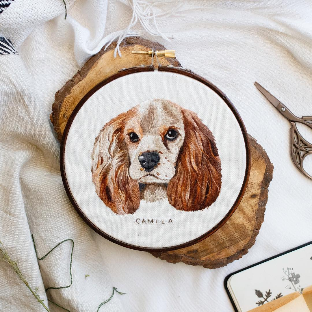 embroidery art camila by emillie ferris