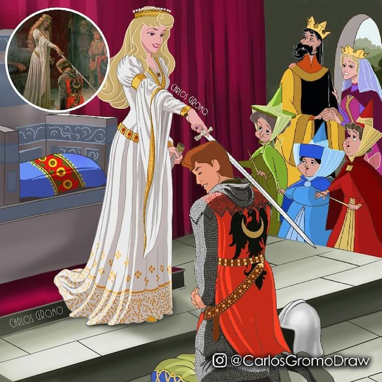 famous painting disney character accolade