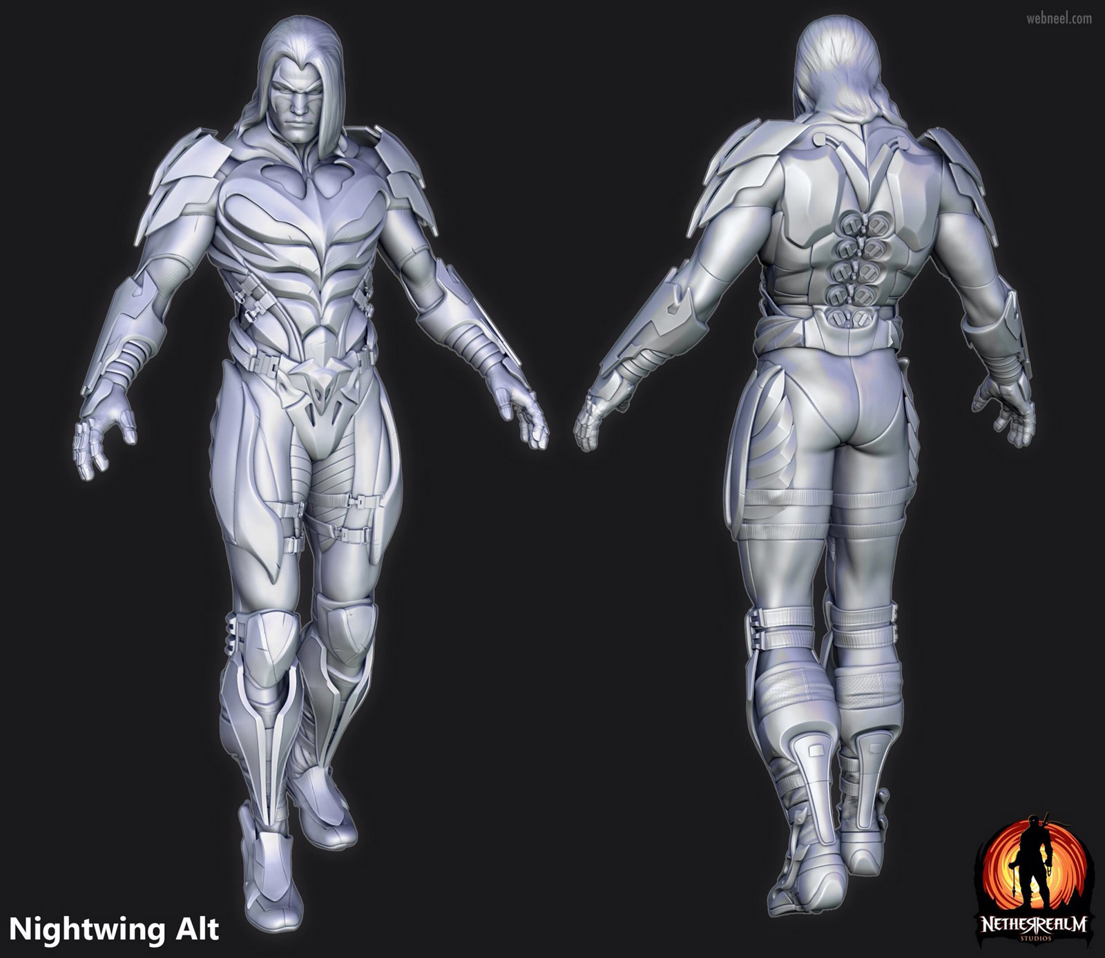 3d model character nightwing monster fighter
