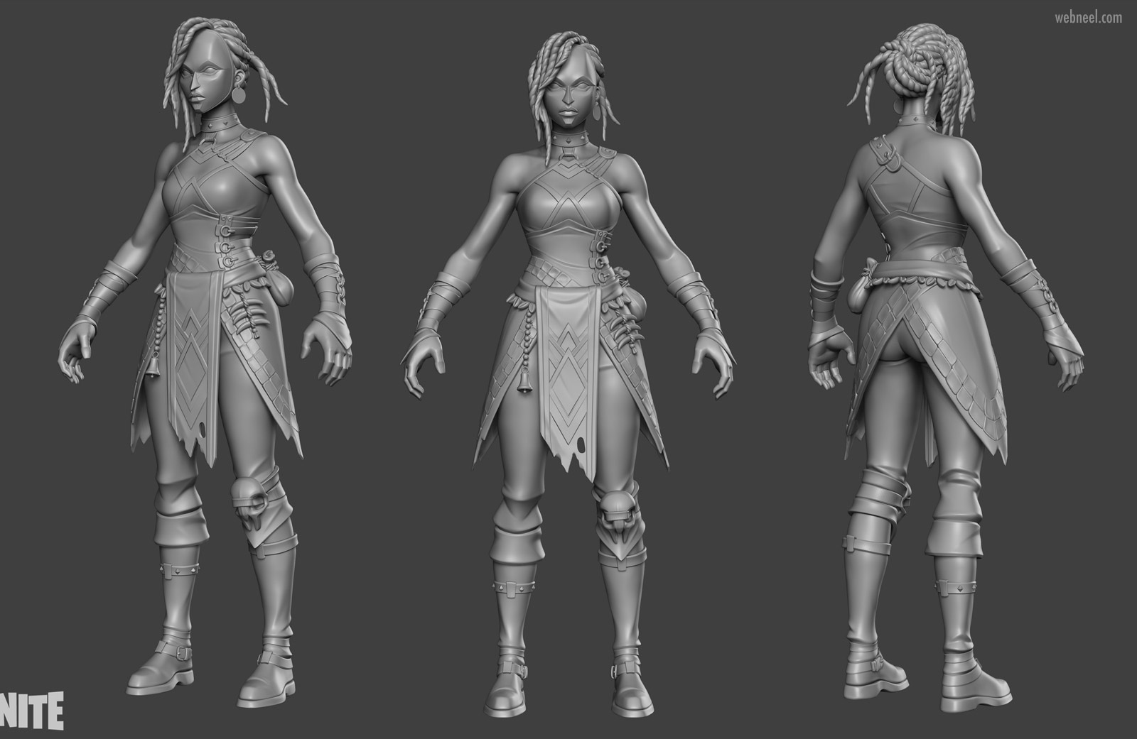 3d game model character modelling