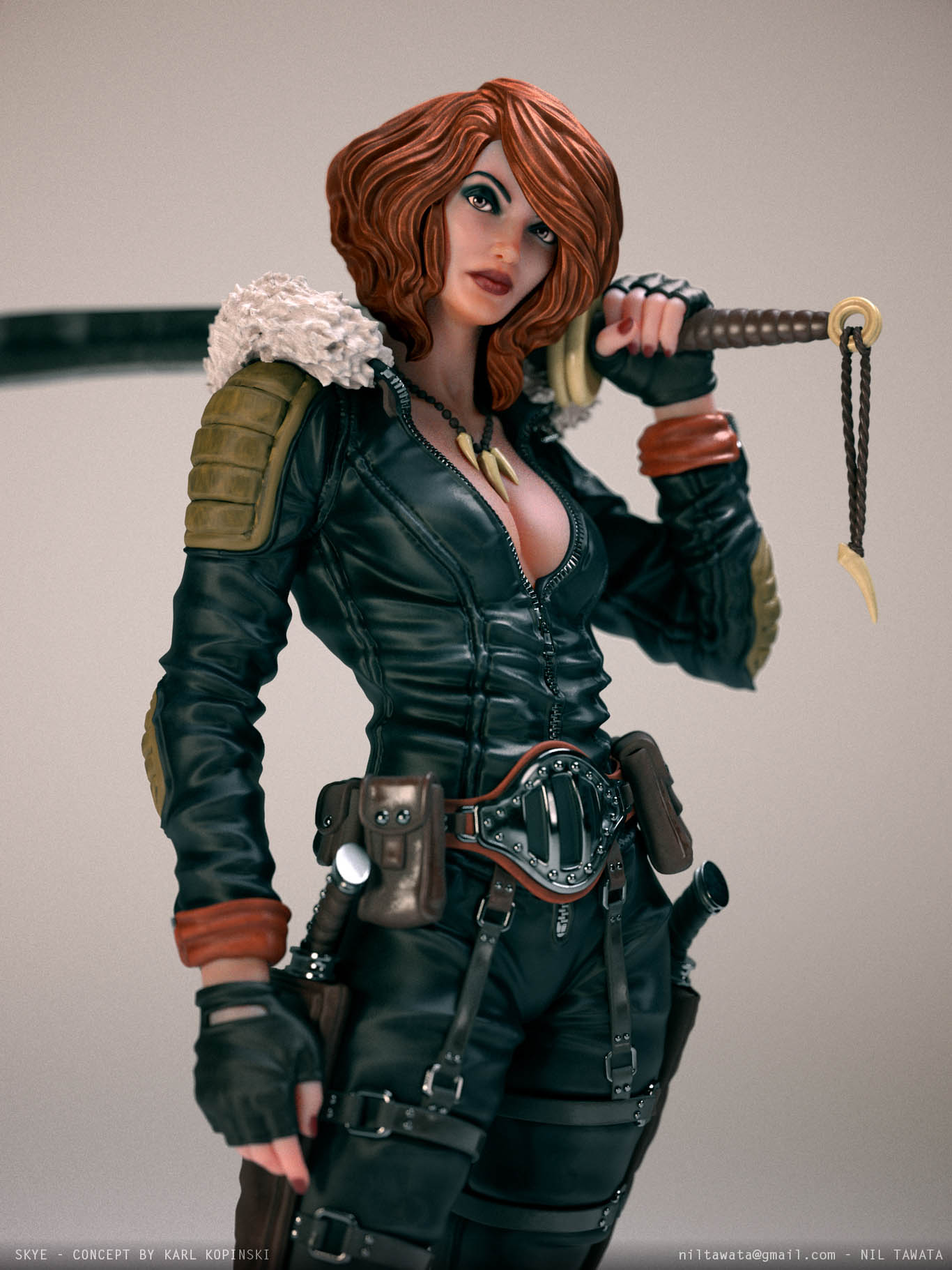3d model character skye