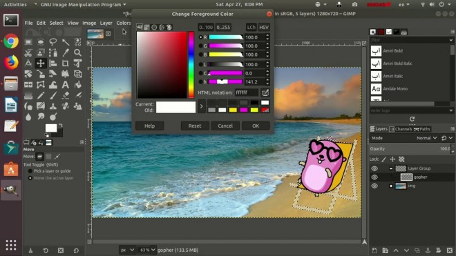 best free painting software gimp