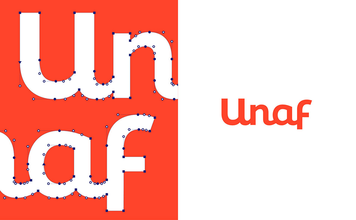 branding design custom logo typography unaf by grapheine