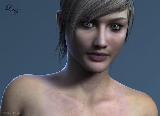 3d girl woman model lestat