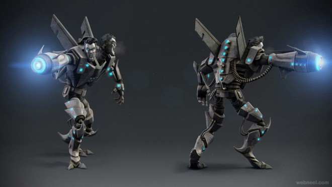 3d game model character design by adam sacco