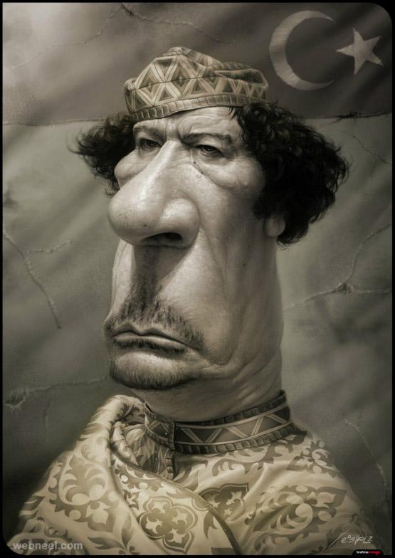 gaddafi caricature