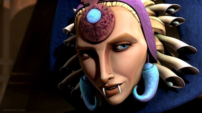 satine star war game characters 3d