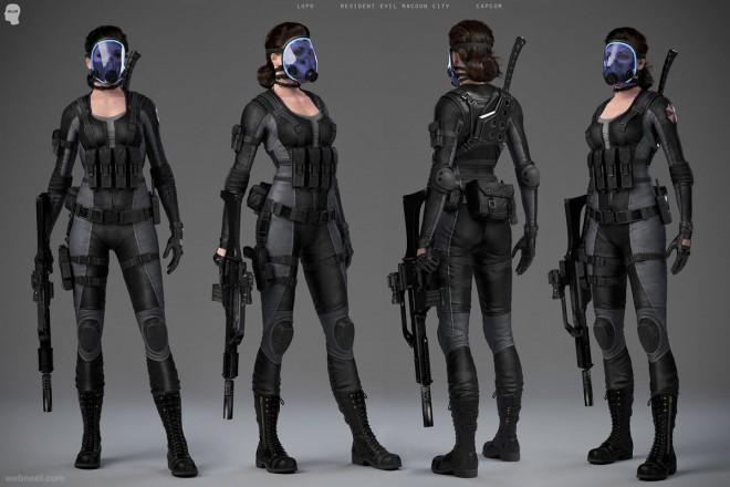 gun woman game cg character by believerdeceiv