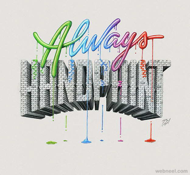 paint creative typography design