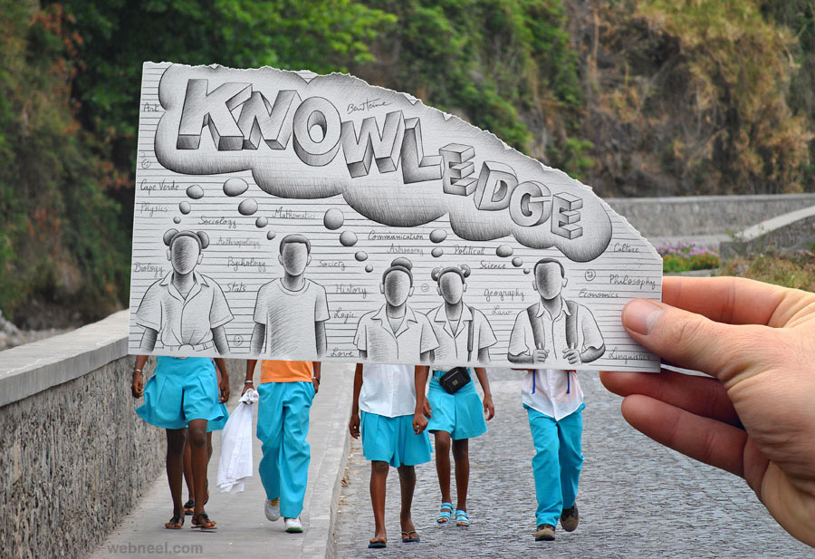 photo vs drawing by ben heine