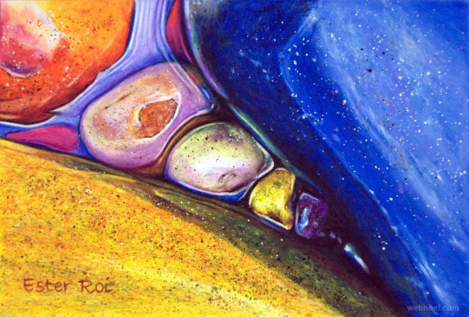 pebbles painting by ester roi