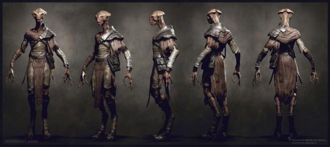 alien cg character by tsvetomir georgiev