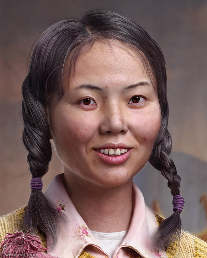 chinese woman 3d character by yuzijiang