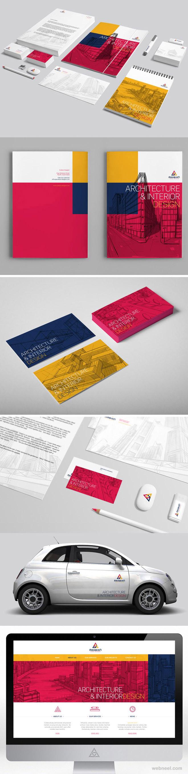 architecture interior branding identity design