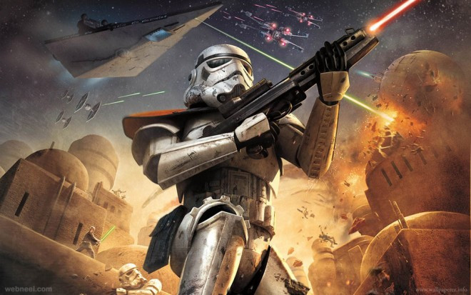 star war game character 3d poster