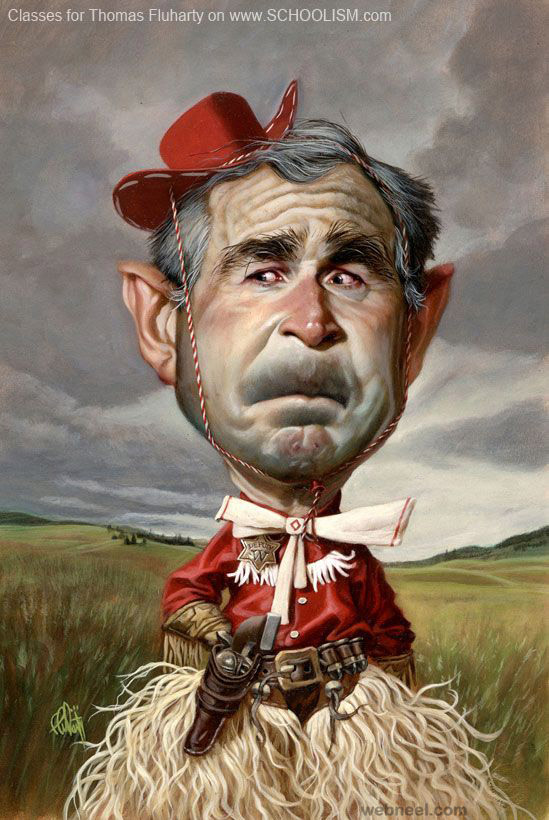 george bush caricature
