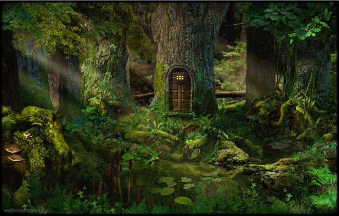 tree background zbrush by marcel