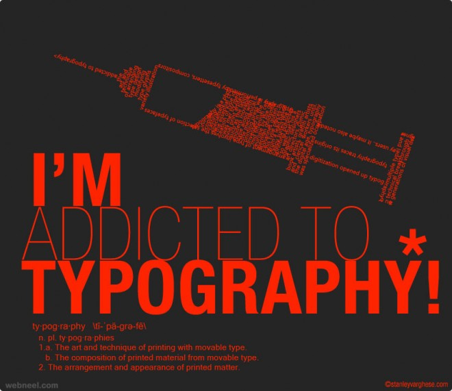 addicted to typography by kodereaper