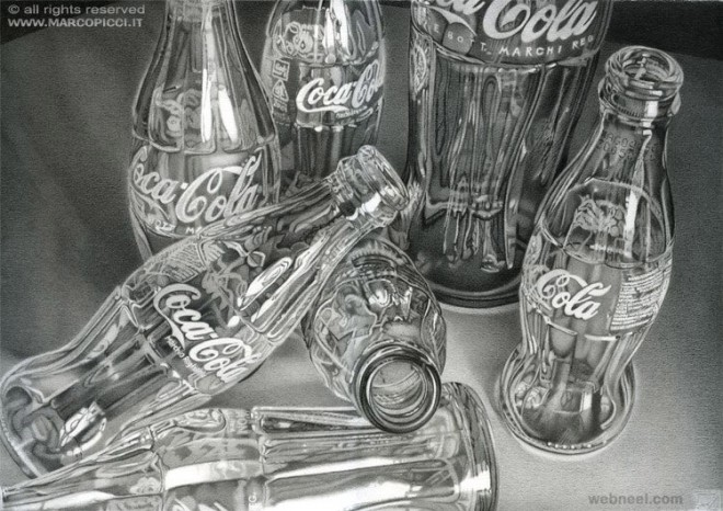 cola bottle realistic pencil drawing by marcopicci