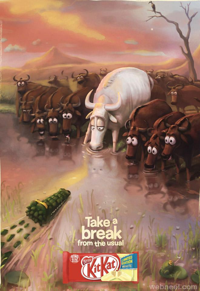 kitkat creative animal ad take a break