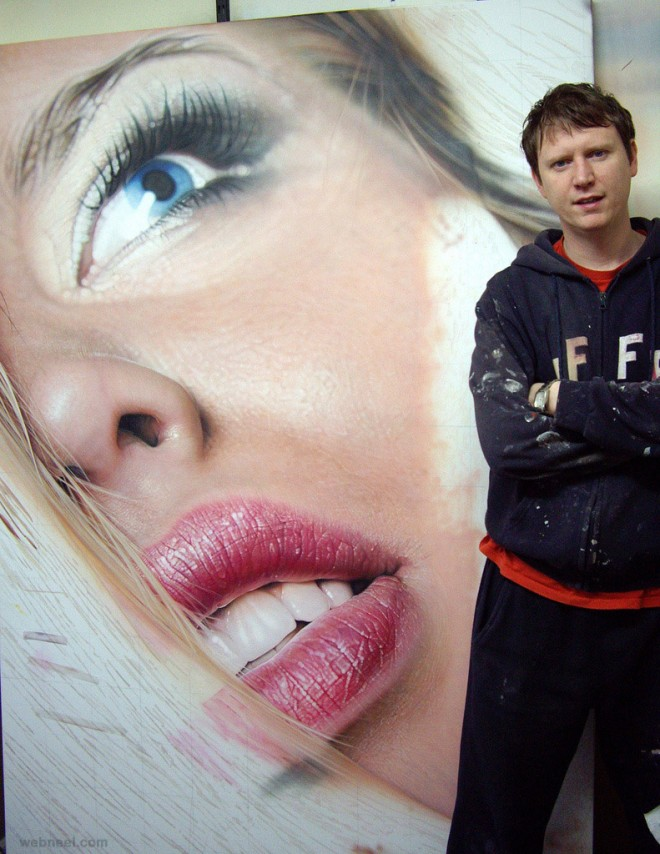hyper realistic face painting by simon hennessey