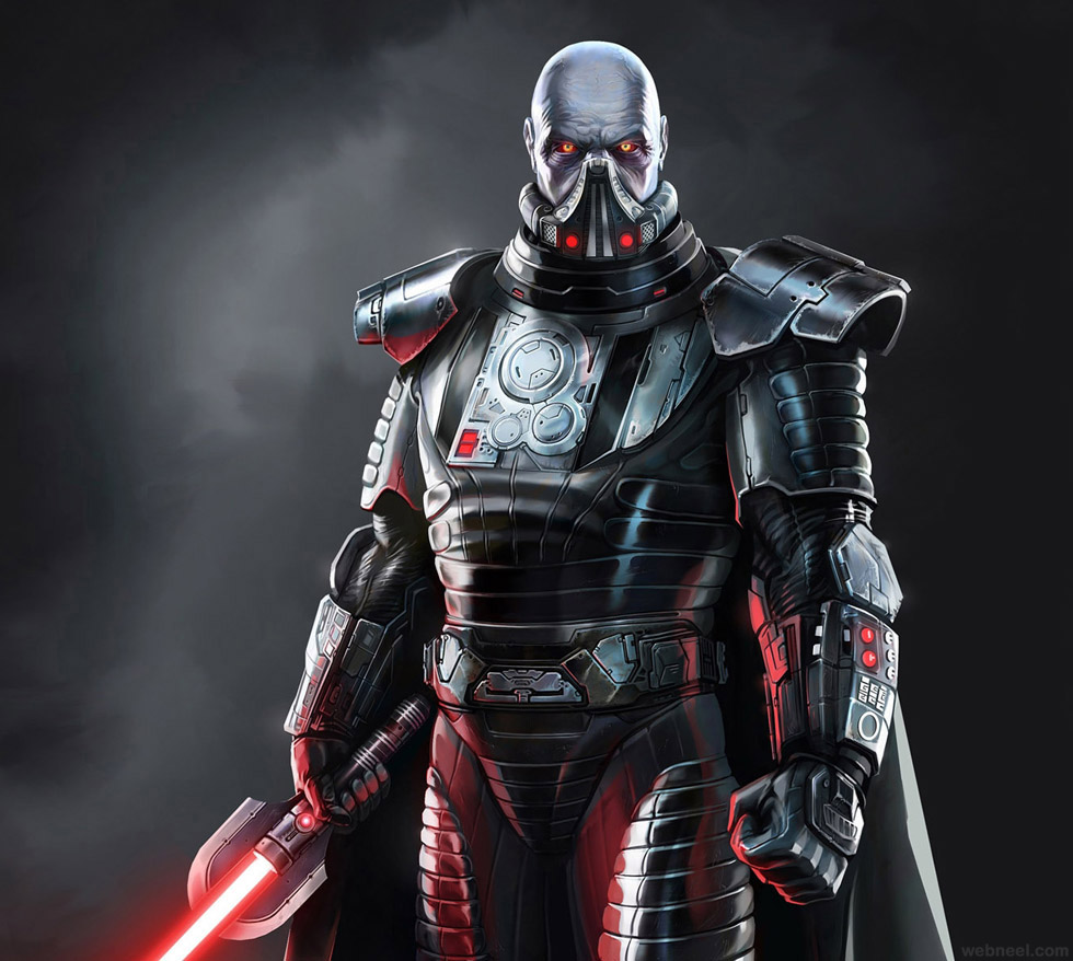star war game 3d character design