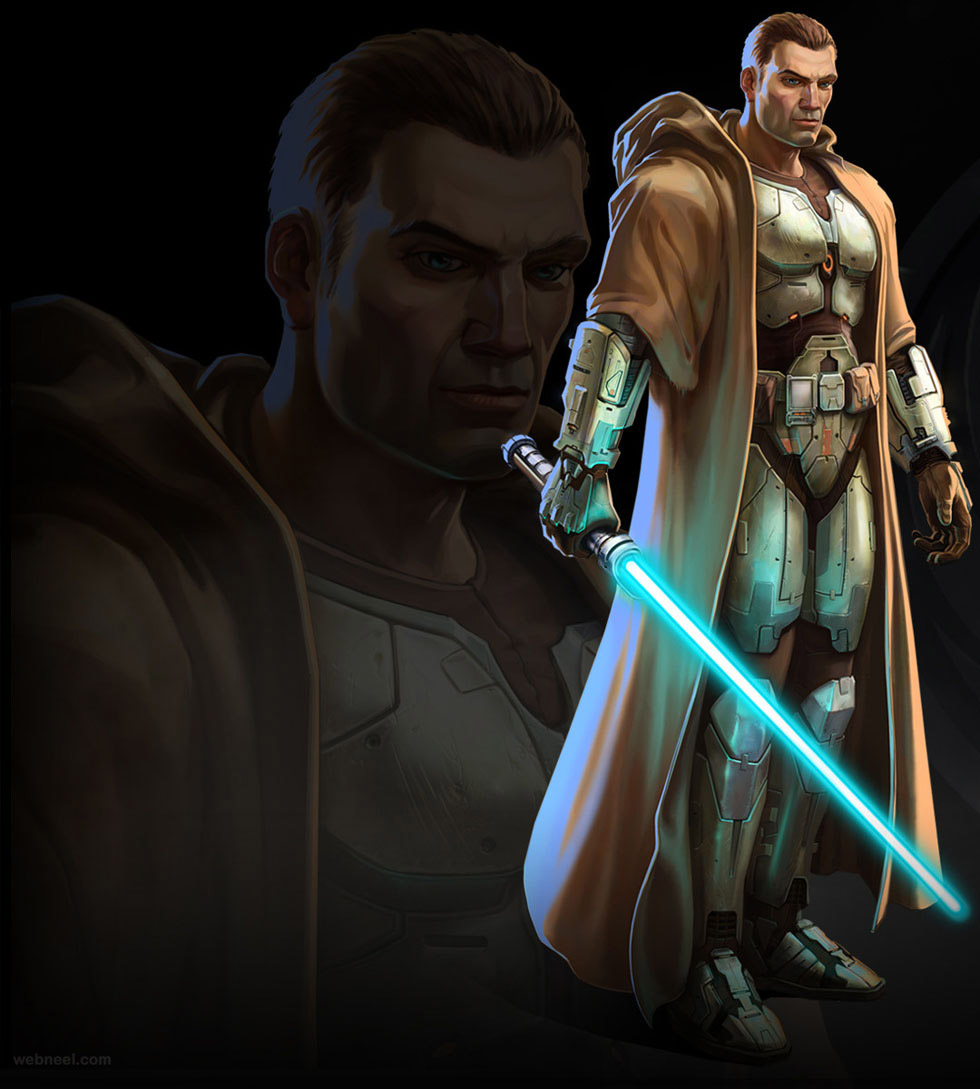 star war game character 3d